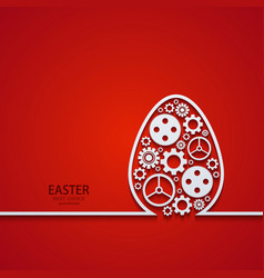 Modern easter element design vector