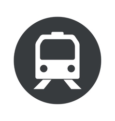 Monochrome round train icon vector