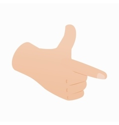 Pointing hand or pistol hand gesture icon vector