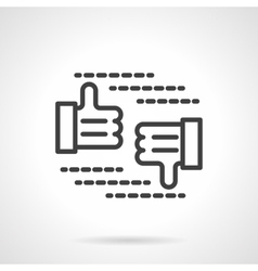 Approve and reject sign black line icon vector