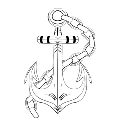 Vintage Hand Drawn Anchor vector image