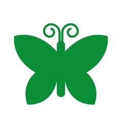 Green butterfly isolated icon design vector