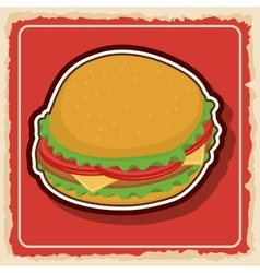 Hamburger icon fast food product graphic vector
