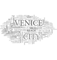 A quick guide to venice text word cloud concept vector