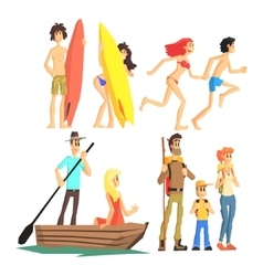 Active summer leisure set vector