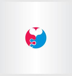 balloon heart logo symbol vector image vector image