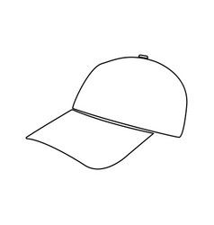 baseball cap black color path icon vector image vector image