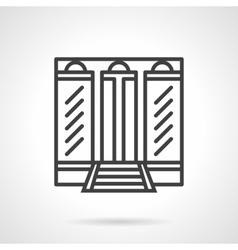 Boutique facade simple line icon vector image