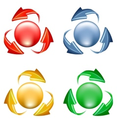 Buttons set with arrows vector image vector image