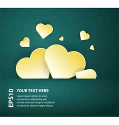 card template with abstract hearts on dark vector image vector image