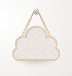 Cloud Wooden plate vector image vector image