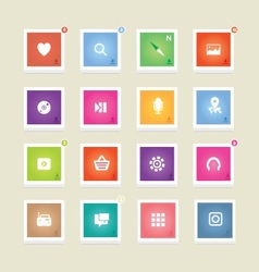 Colorful 3d icons vector