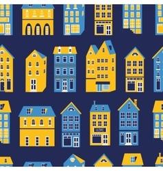 Colorful city pattern vector