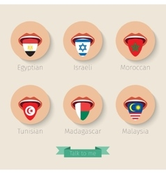 Concept of learning languages vector