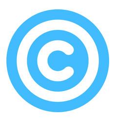 Copyright sign symbol flat icon vector