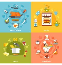 Culinary flat concept vector