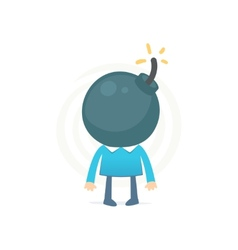 head like a bomb might explode from the excess vector image vector image