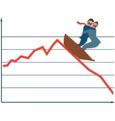 Market fluctuation vector image vector image