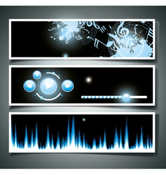 Music webpage vector image vector image