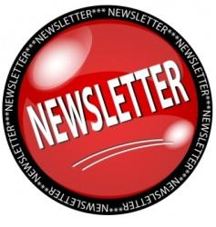 Newsletter button vector