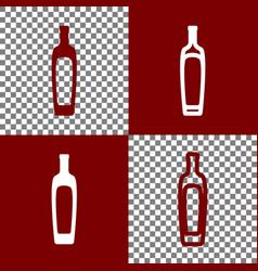 Olive oil bottle sign bordo and white vector