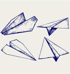 Paper planes vector image vector image