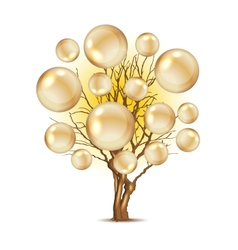 Pearl tree for your design vector image vector image