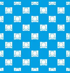 Playstation pattern seamless blue vector