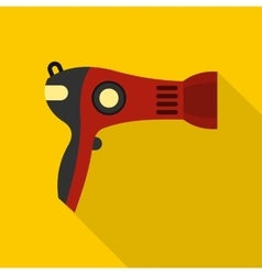 Red hairdryer icon flat style vector