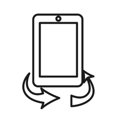 rotate screen button isolated icon design vector image vector image