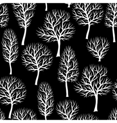 Seamless pattern with abstract stylized trees vector image vector image