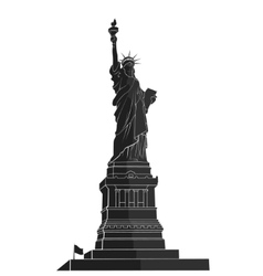 Statue of liberty new york landmark flat vector