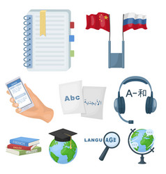 teaching chinese in russia translation of the vector image