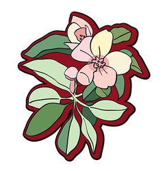tree flower clipart vector image vector image