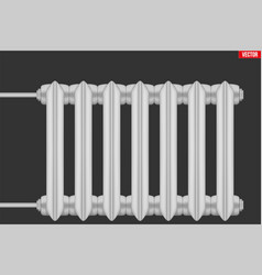 Vintage metal heating radiator vector