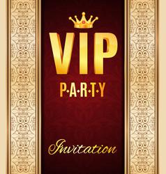vip elegant card vector image