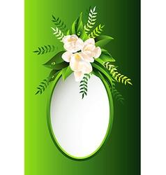 Green flowers vector