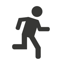 Human figure person running vector