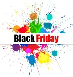 Black friday sale banner with bright ink vector