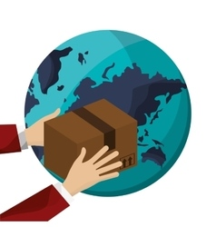 Package of delivery design vector