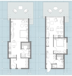 Apartment floor plan sketch vector