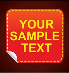 Glossy red sticker vector image