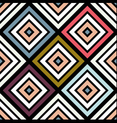 Colorful abstract seamless pattern geometric vector