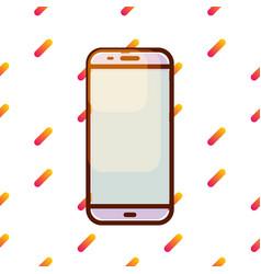 Smartphone icon on gradient memphis pattern vector