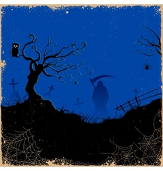 Grim in Halloween night vector image