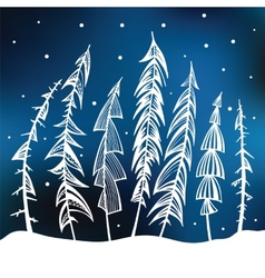 Forest winter background vector