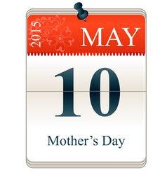 Calendar of mothers day 2015 vector