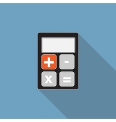 Calculator flat icon with long shadow vector