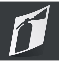 Monochrome fire extinguisher sticker vector