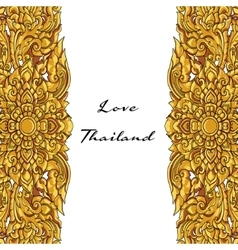 Thai floral decorative ornament eps vector